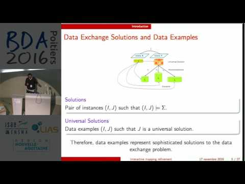 Emmanuel Coquery - Interactive mapping refinement with user data examples