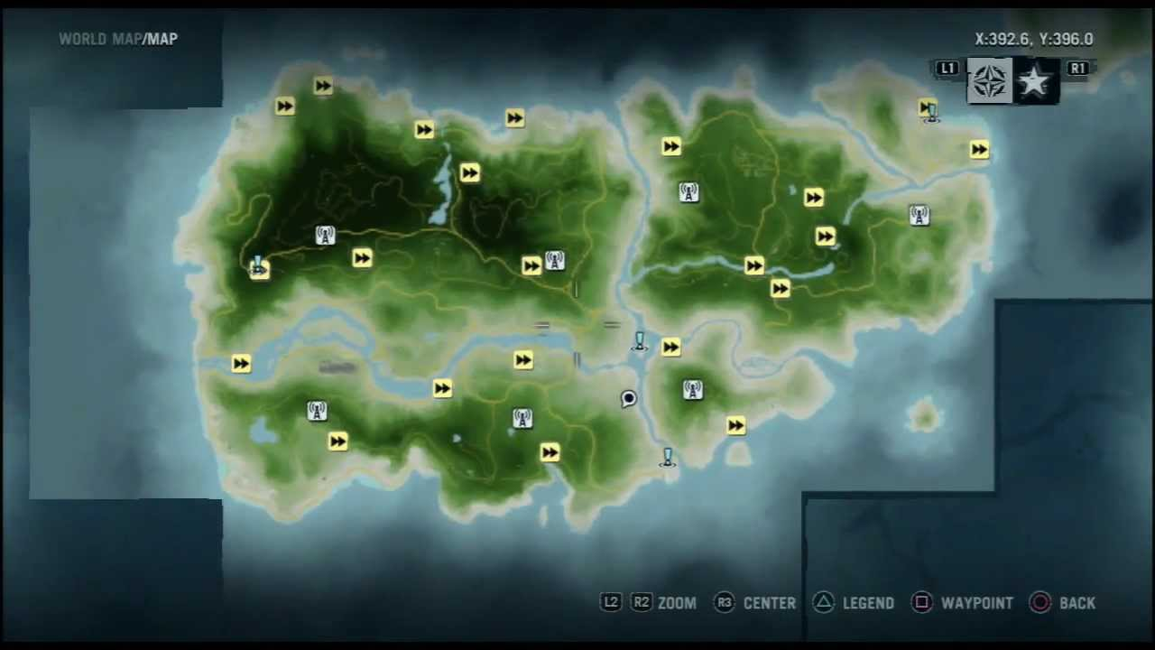 Far Cry 5 Full Map: Farcry 3 Full Map Unlocked
