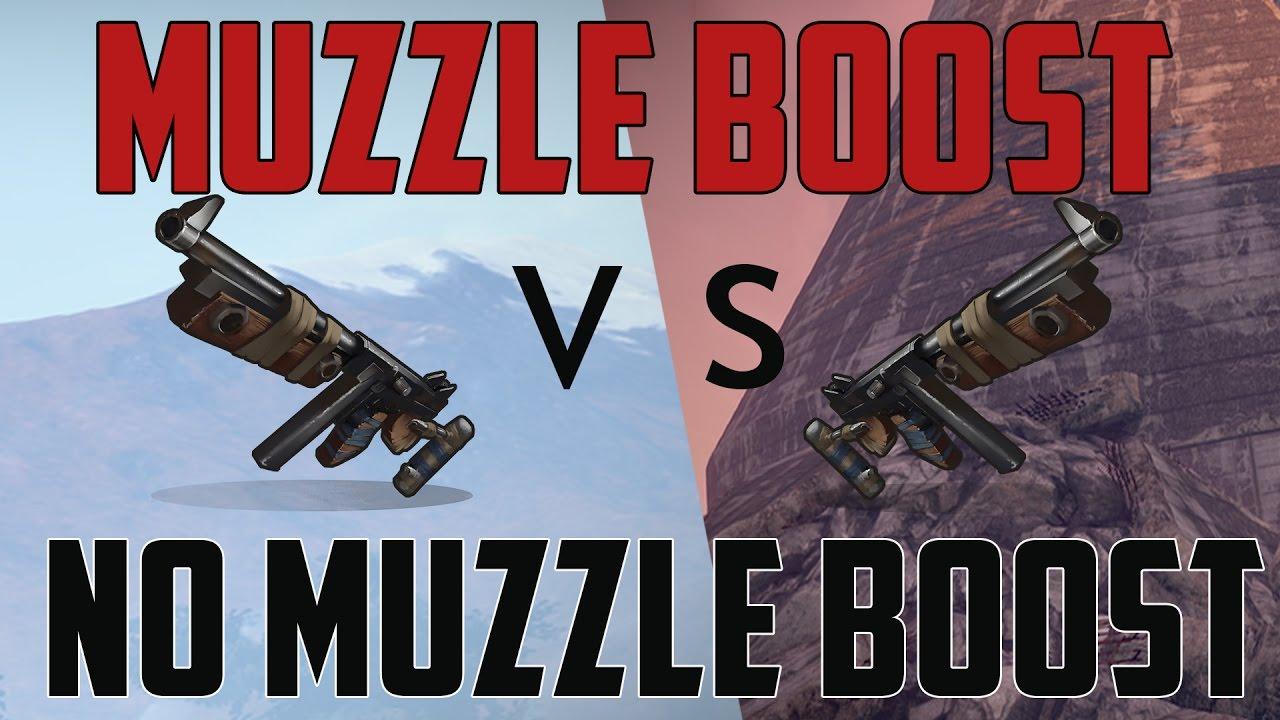 Rust Thompson Muzzle Booster Vs No Muzzle Booster Youtube