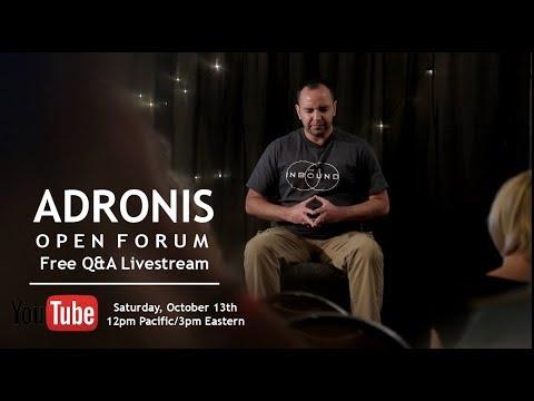 Adronis: Open Forum Free Q&A Livestream