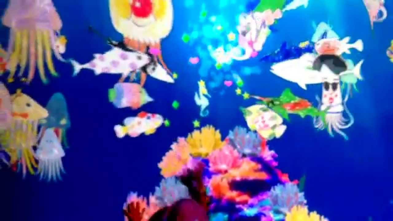 塗った魚が泳ぎ出す。親子で楽し...