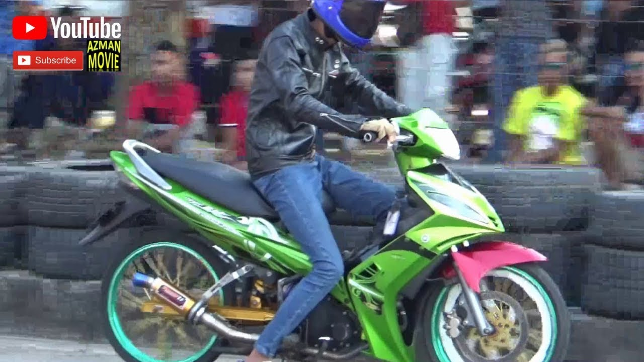 AKSI Drag Bike YAMAHA Y15 LC 135 Drag Racing Kubang  Menerong FEB 2019
