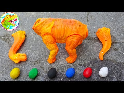 Dinosaur Walking and Laying Eggs Toys Learn Colors & Numbers for Children G149B