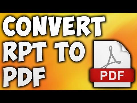 How To Convert RPT To PDF Online - Best RPT To PDF Converter
