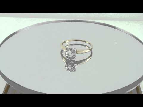 Estate 0.40CT Round Diamond 14K Gold Solitaire Engagement Ring H-I/ SI Certified