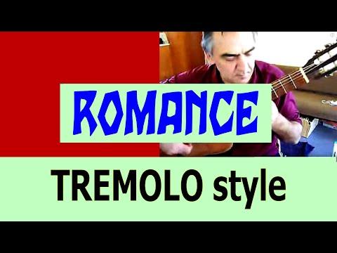 Romance - classical guitar tremolo solo