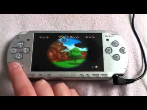 Super Mario 64 Running Nearly Full Speed On PSP (Official Firmware)