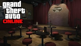 """GTA 5 Online - How to Get Inside the """"Split Sides"""" Comedy Club"""