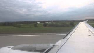 LHR-ZRH on a Swiss Airbus A320, take-off and landing