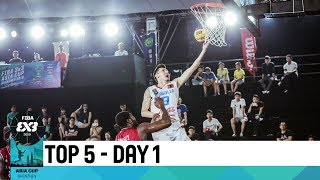 Top 5 Plays - Day 1 | FIBA 3x3 Asia Cup 2018