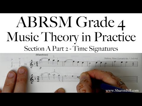 ABRSM Grade 4 Music Theory Section A Part 2 Time Signatures with Sharon Bill