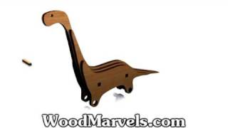 Build Your Own Wooden Brontosaurus (hd)!