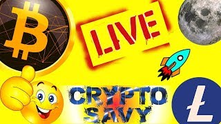 👀CRYPTO SAVY LIVE STREAM👀, bitcoin litecoin price prediction, analysis, news, trading