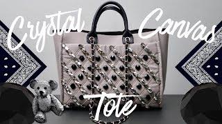 DIY | Crystal Canvas Tote | BellaGemaNails