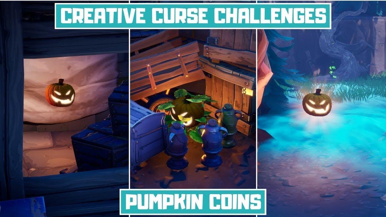 creative curse challenges pumpkin coins