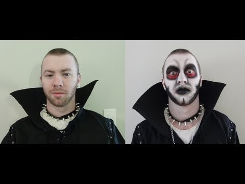 male demon halloween makeup