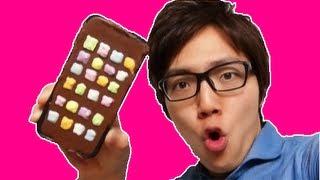 iPhoneチョコレート作ってみた! I make iphone5 chocolate!