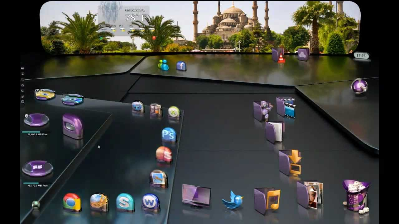 3d Live Wallpaper For Pc Windows 7 Free Download 3d Interface Corinthia 3g Desktopx Theme Youtube