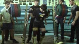 Prokopenko Andrey 75kg, Squat 322.5kg (Records KAZ)2010г