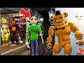CAN BUFF FREDDY SAVE ALL THE ANIMATRONICS FROM NIGHTMARE BALDI? (GTA 5 Mods For Kids FNAF RedHatter)