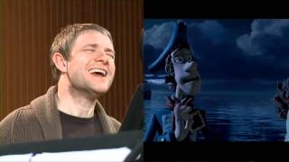 the pirates band of misfits martin freeman pirate with scarf side by side match up