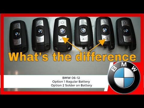 How To Replace BMW 1, 3, 5, X Series Remote Key Fob Battery.