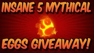 *INSANE* 5 MYTHICAL EGGS GIVEAWAY! *3 WINNERS* (Roblox Mining Simulator)