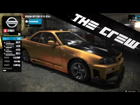 The Crew | Car Customization & Tuning – Nissan Skyline R34 GT-R, Visual, Performance (PS4) [HD]