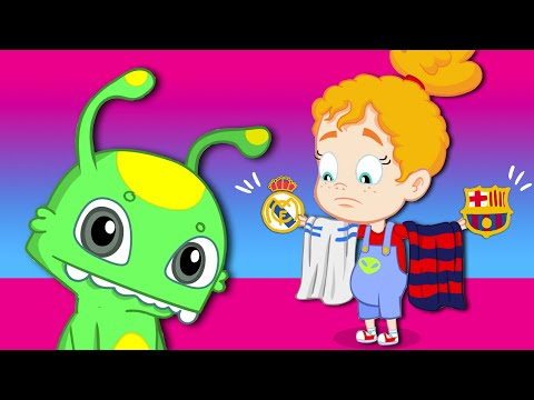 Groovy The Martian El Clasico REAL MADRID vs BARCELONA FULL EPISODES Cartoon for kids