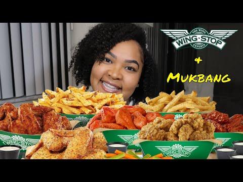 WINGSTOP | WINGS AND THANGS MUKBANG | Shai Snacks EATING SHOW