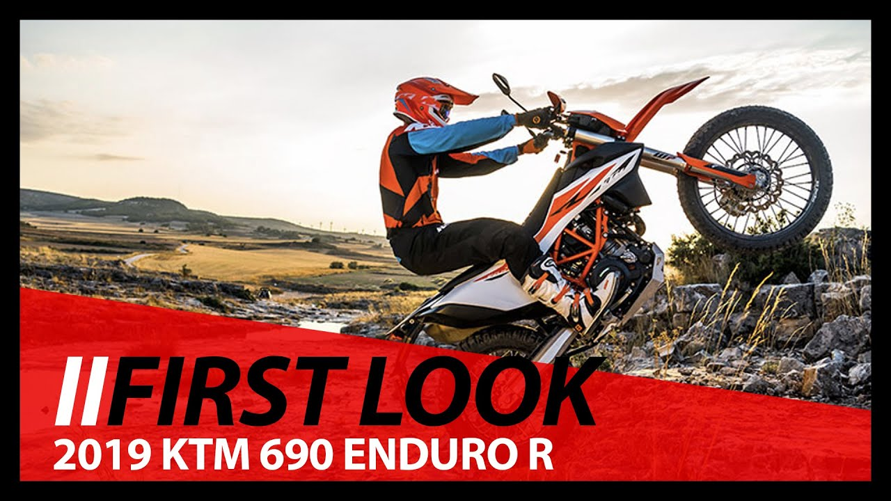 First Look! 2019 KTM 690 ENDURO R Walk Around and Discussion of Features