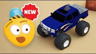 Monster Trucks races | 3D Video for Kids | Cartoons for children.