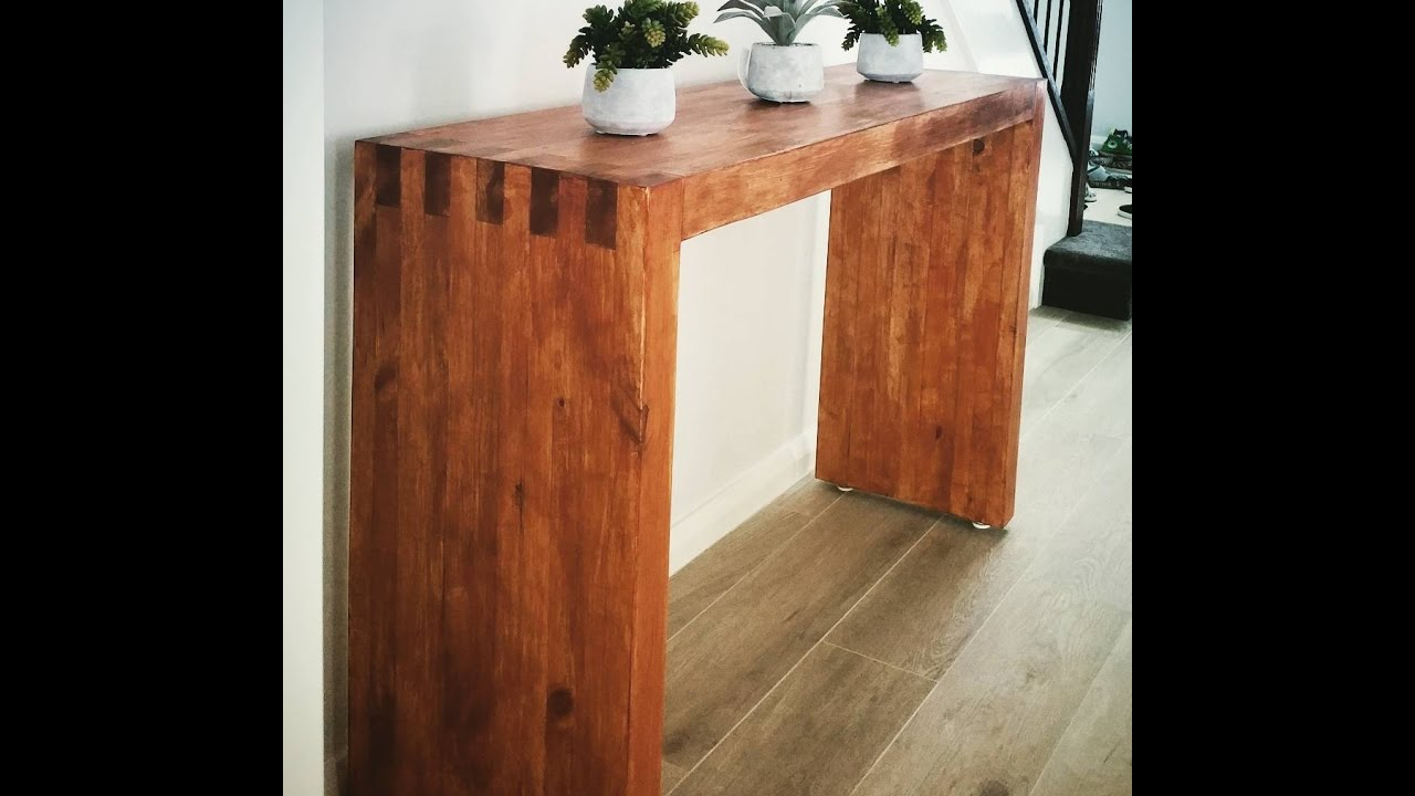 Diy Console Hall Table Made Of 2x4s Youtube