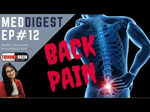 BACK PAIN RELIEF कमर का दर्द क्यों होता है, इसके लक्षण और इलाज CURE SYMPTOMS REMEDY #MEDDIGEST 12