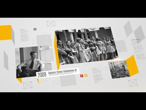 Square Clean Slideshow - After Effects template - 동영상