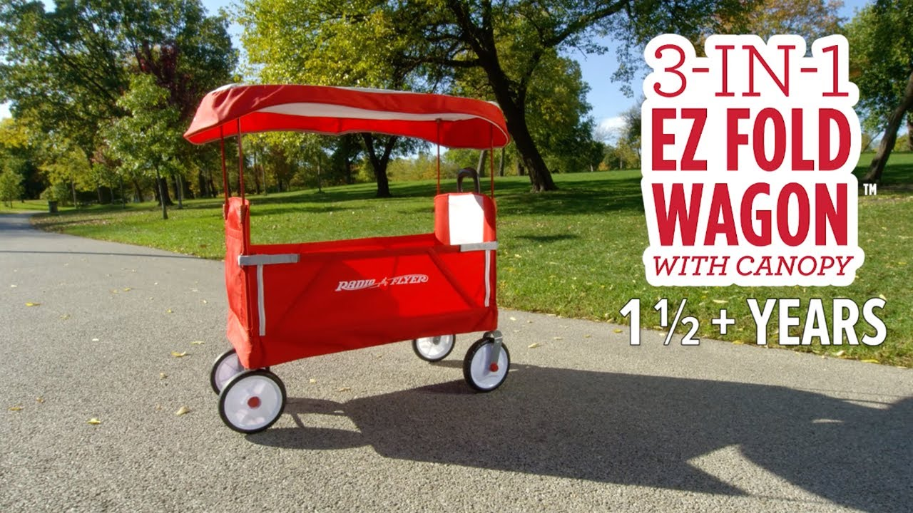 3 In 1 Ez Fold Wagon With Canopy