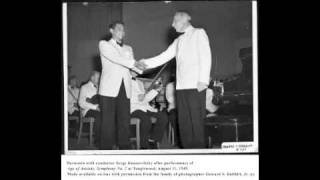 Bernstein Symphony No.2 - L.Bernstein piano, S.Koussevtzky conductor, BSO 1949