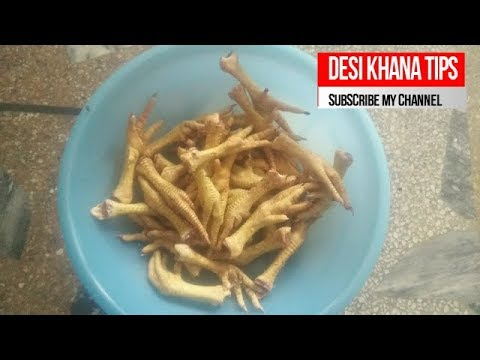 How to Peel Chicken Feet for Homemade Stock HOW TO CLEAN HEN  CLAWS- CLEANING
