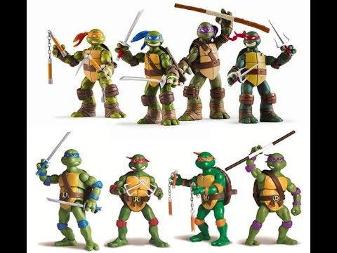 Les tortues ninja jouets pour les enfants youtube - Les 4 tortues ninja ...