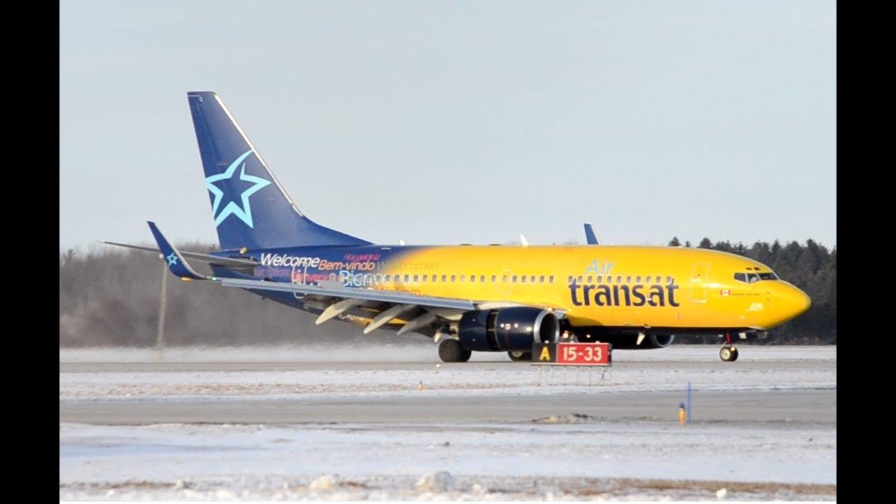 air transat 737 700 c gtqi landing in on rwy 15