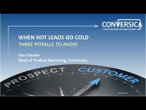 """""""When Hot Leads Go Cold: Three Pitfalls to Avoid"""" Webinar"""