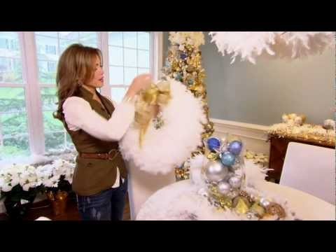How to Make a Feather Boa Wreath with Lisa Robertson
