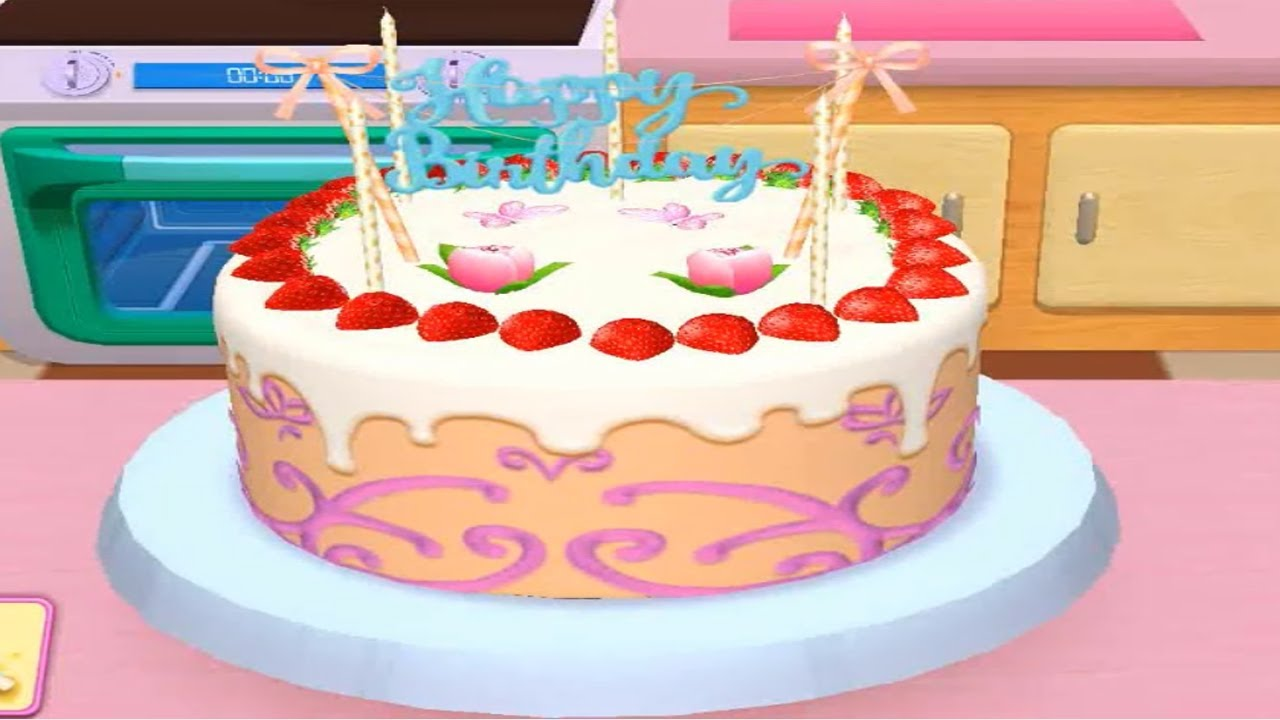 Make Happy Birthday Cake Game - Play Fun Kids Game - My Bakery Empire Bake, Decorate Learning Color