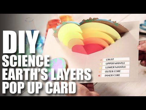 Mad Stuff With Rob - How To Make A DIY Earth's Layers Pop Up Card | DIY Science Projects