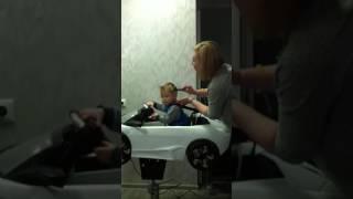 Мир красоты и здоровья. Детская стрижка в суперкресле Ламборджини.