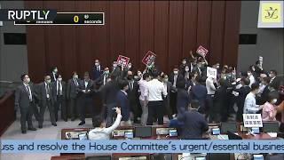 Brawl-driven politics | Lawmakers fight for control of HK's Legislative Council