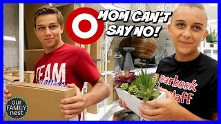 MOM CAN'T SAY NO IN TARGET! NO LIMIT SHOPPING - PART 2