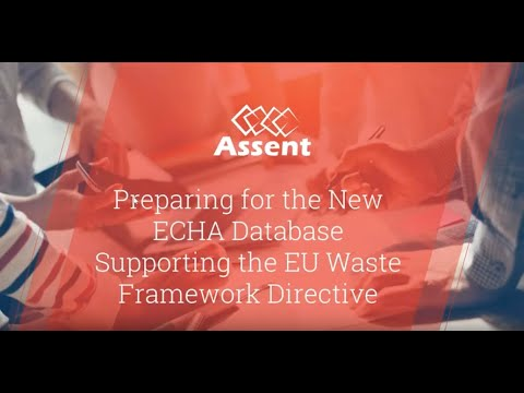 [Webinar] Preparing for the New ECHA Database Supporting the EU Waste Framework Directive