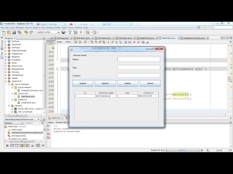 2  Insert Update Delete Select CRUD OPERATION  USING JAVA JDBC Connection