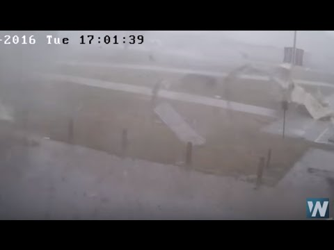 Security Cams Catch Tornado at Tennessee High School